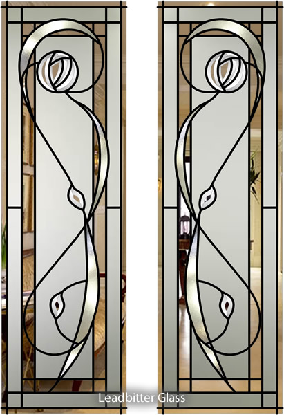 Stained glass bathroom door